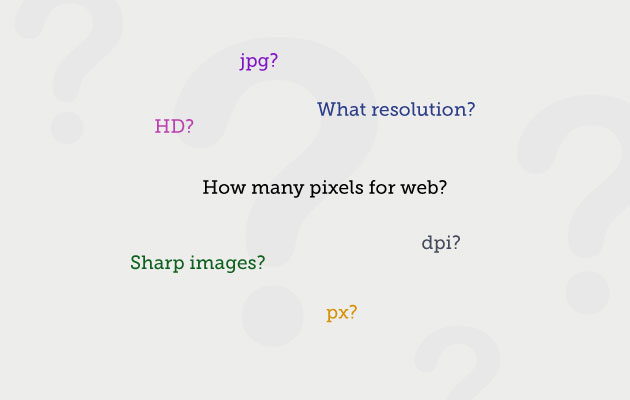 What resolution do my images need to be for the web?