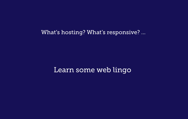 Web lingo explained